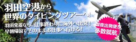 羽田空港発着ダイビングツアー