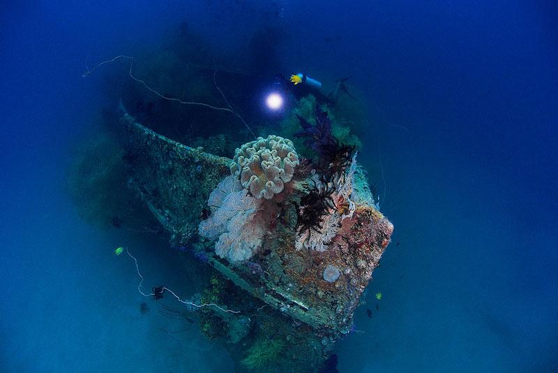 魚影に圧巻されるマダンの海1-3