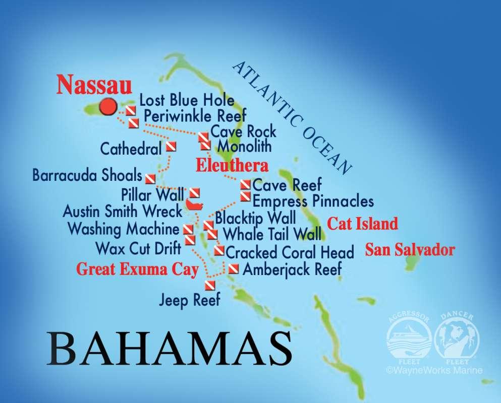バハマダイビングマップ1-1
