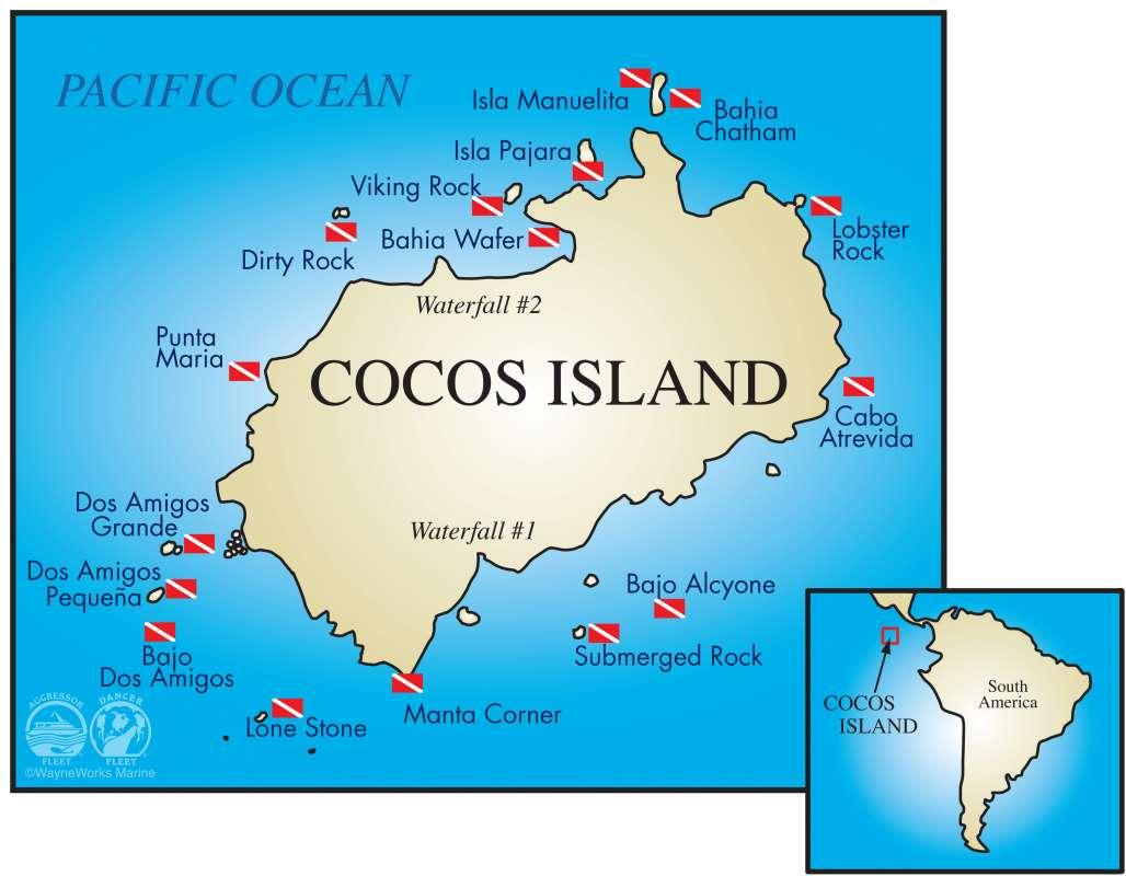 ココ島ダイビングマップ1-1