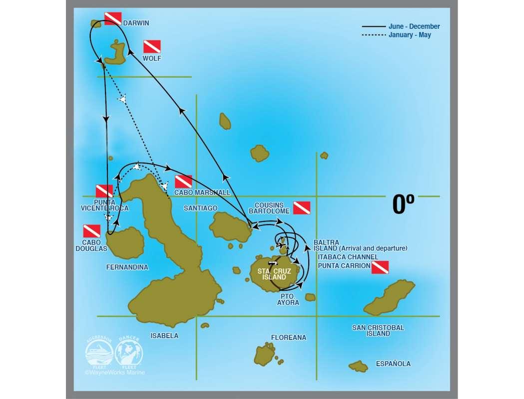 ガラパゴスダイビングマップ1-1