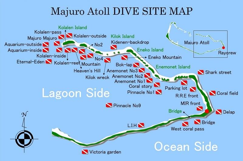マジュロ環礁のダイビングポイント1-1