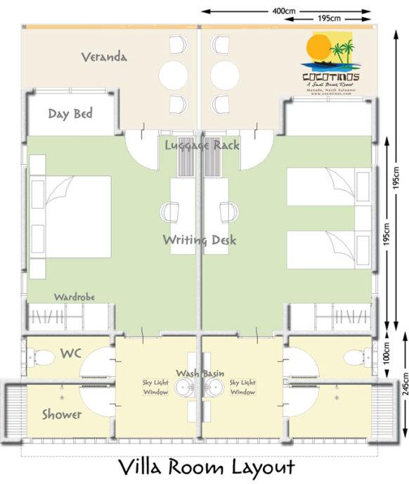 宿泊施設 ガーデンルーム1-2