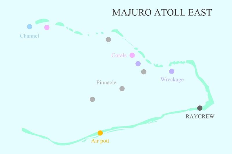 マジュロ環礁のダイビングポイント3-1