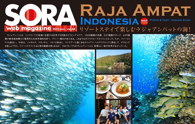 SORA-web ラジャアンパットUP写真