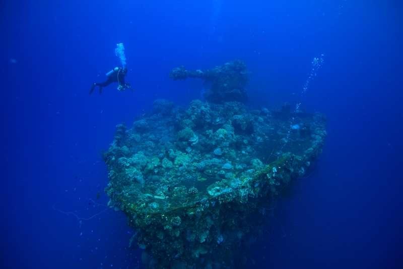 サンゴに彩られた沈潜の沈むチューク!!3