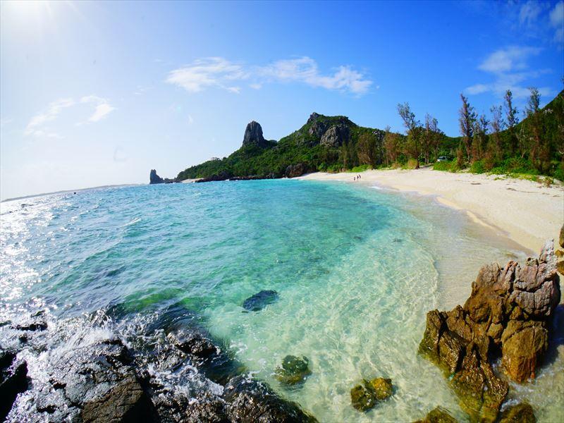 息を呑むほどの透明度!圧巻のサンゴ礁<伊是名島>2