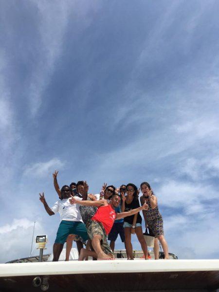 2018年10月6日〜14日 バア環礁 お客様よりボート上写真